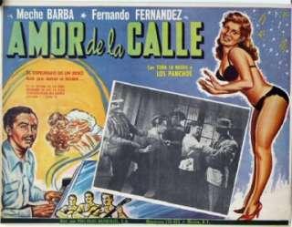 L651 Amor en la Calle, Mexican Lobby card, Meche Barba