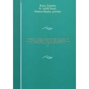 Della nouissima Iconologia di Cesare Ripa Perugino Caualier de SS