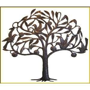 com Haiti Steel Drum Art   Fruit Tree with Birds   Haitian Metal Art