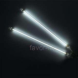 2x White 6 CCFL Cold Cathode Car Neon Tube Light Lamp