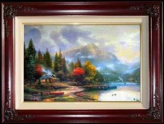 Perfect Day III 24x36 S/N Framed Limited Edition Thomas Kinkade Canvas