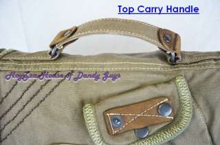 Vintage Cotton Canvas Casual Stylish Messenger Bag Gre