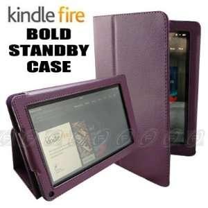 CaseNinja (Purple) PU Leather Folio Case Cover for