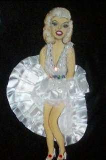 Framed MARILYN MONROE Ribbon Doll Paper Art Picture