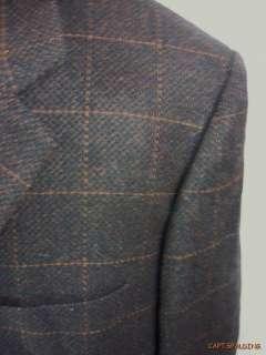 Wool/Cashmere Sport Coat Jacket Blazer.Mens 52 L. Dark Brown.Italy