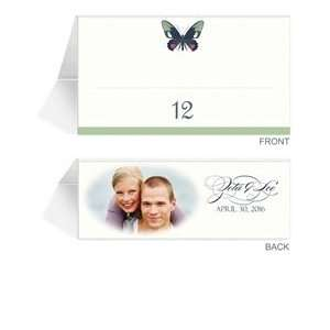 110 Photo Place Cards   Butterfly Moss Spice Dream Office