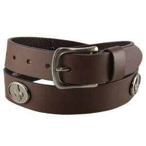 New Orleans Saints Brown Leather Concho Belt