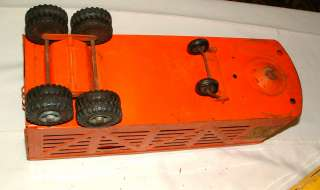 1950s STRUCTO SEMI TRUCK WI CATTLE AND HAULER TRAILERS |