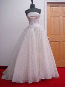 Maggie Sottero Bridal 480 Ivory 8 Wedding Gown Couture Authentic