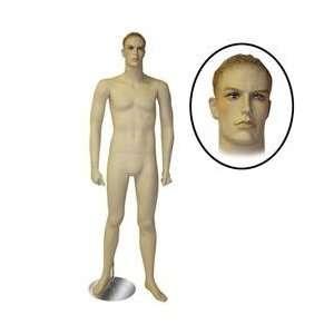New Fleshtone Standing Male Mannequin Molded Hair NIB