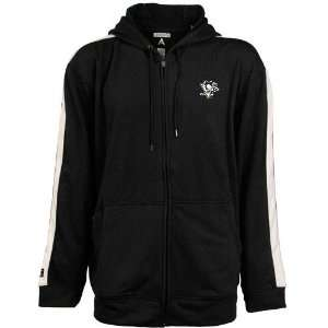 Antigua Pittsburgh Penguins Black Sonic Full Zip Hoody Sweatshirt