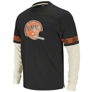 Cincinnati Bengals Black Vintage Thermal Long Sleeve Shirt