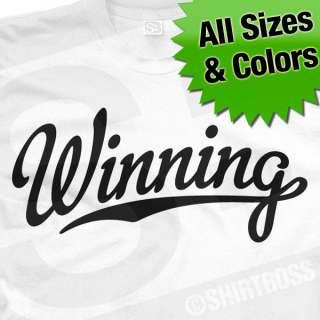 Charlie Sheen Winning Baseball T Shirt All Size Colors