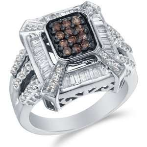 and Chocolate Brown Diamond Engagement OR Fashion Right Hand Ring