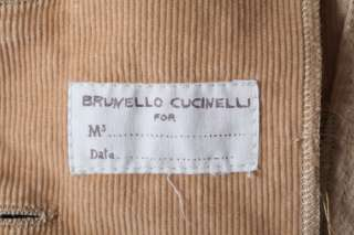 BRUNELLO CUCINELLI Perfect Tan Cord Corduroy Cotton Blazer Jacket Coat