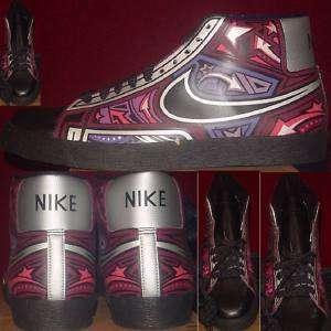 Mens Nike Blazer High Cherrywood Purple Black 12.5