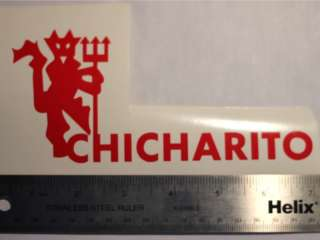 CHICHARITO RED DEVIL DECAL MANCHESTER UNITED STICKER