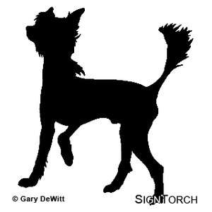 Chinese Crested Dog Vinyl Decal Sticker