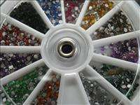 Art Mixed Colors Round Rhinestones professional Wheel Slice Decoration