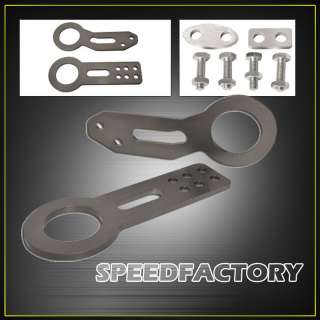 FRONT AND REAR TOW HOOK KIT UNIVERSAL FITMENT JDM STYLE ALUMINUM