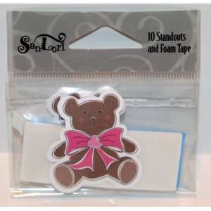SanLori 10 Pack Cute Bebe Brown Teddy Bear #D 348 Die Cut