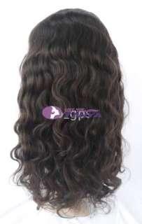 wig 100% indian remy human hair 16 2# dark brown body wave wig