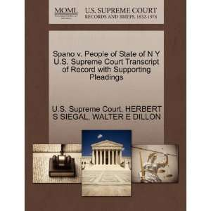 Spano v. People of State of N Y U.S. Supreme Court