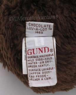 GUND Chocolate Brown LUV A LOT Teddy Bear 15 Plush Stuffed Animal Toy