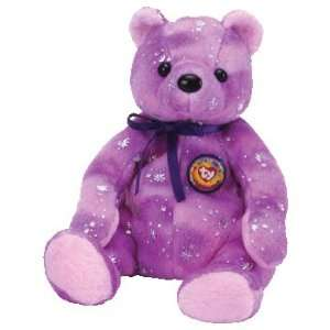 TY Beanie Baby   CLUBBY 6 the Bear (Purple Version) Toys