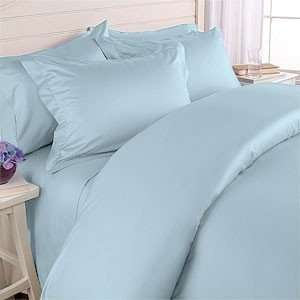 Cotton Solid Sateen Single Ply Yarn Light Blue King.