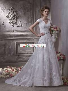 Custom White/ivory Applique Wedding Dresses/Gowns Size6 8 10 12 14 16