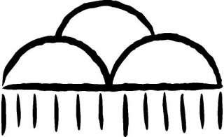 symbols rain cloud decal sticker display this decal with pride
