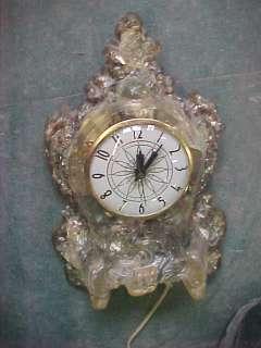B4 Vintage Lanshire Electric Mantel shelf clock rock US