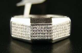 10K MENS 9 MM YELLOW GOLD WEDDING BAND DIAMOND RING .60
