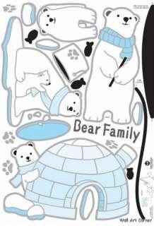 Polar Bear Kids Deco Mural Wall Art Sticker Decals