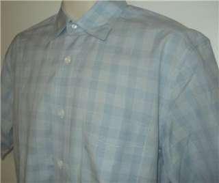 Faconnable short sleeve blue summer mens shirt S NICE
