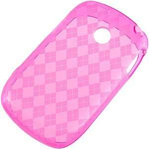 TPU Skin Cover for LG 800G, Argyle Hot Pink: Cell Phones
