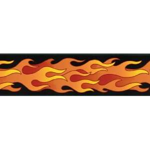Wallpaper Borders on Flames Diner Cars Wallpaper Wall Border  Home   Kitchen
