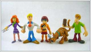 5psc Scooby Doo Dog Shaggy Auction Figures Toy SD03