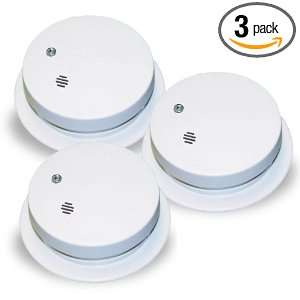 0914 Battery Operated Ionization Sensor Compact Smoke Alarm, 3 Pack