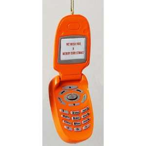 Orange Merry Christmas Musical Cell Phone Ornament Home