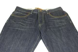 Mens Franky Max Dark Jeans Winged Leather Studs 34x32
