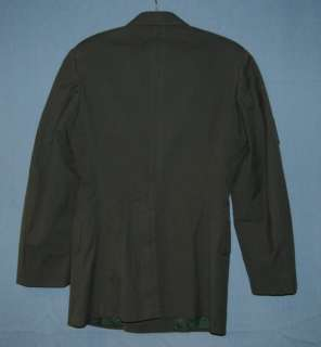 US ARMY EM SERGE GREEN AG 44 SGT VIETNAM UNIFORM JACKET SIZE SMALL