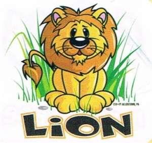 LION Cute Jungle Safari Cool Animals Kids Funny T Shirt