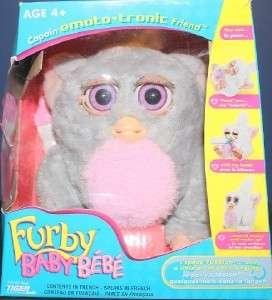 2005 TIGER FURBY BABY BEBE COPAIN EMOTOTRNIC GRAY & PINK