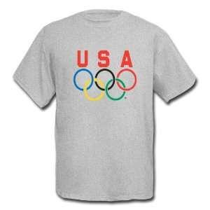 Team USA 5 Rings Logo Short Sleeve Tee Shirt  Sports