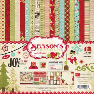 NIP Echo Park Seasons Greetings Collection Kit 12 x 12