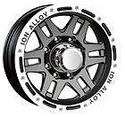 CPP ION Alloys style 133 Wheels Rims, 16x8, 5x5, black with beadlock