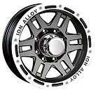 CPP ION Alloys style 133 Wheels Rims, 16x8, 5x5, black with beadlock