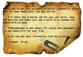 Pet Dog Cat Nail Scissors Clipper + Blue File